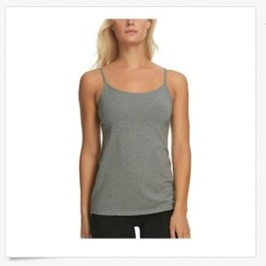 Felina Women/'s Cotton Stretch Camisole Tops 2-Pk White//Charcoal Size M NWOT